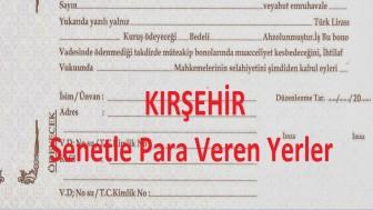 Kırşehir Tefeci Kredisi