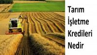 Tarım İşletme Kredileri Nedir